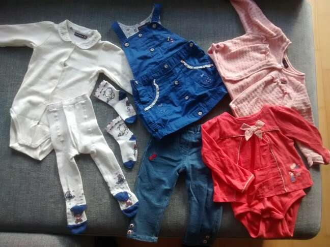 Imagen ropa bebé 12 meses. pack.