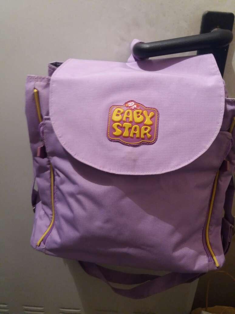 Imagen pañalera color lila nueva.