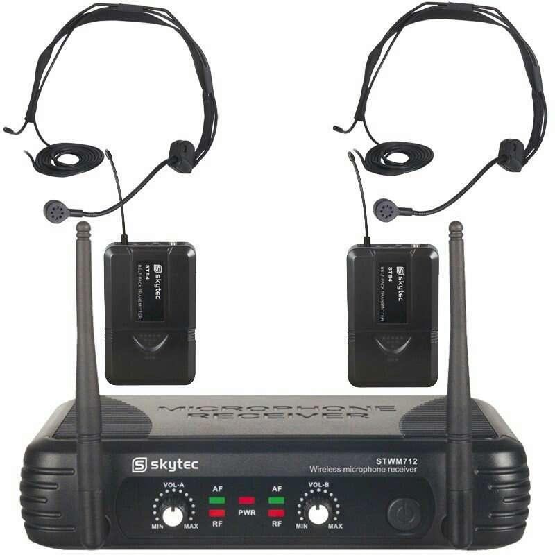 Imagen microfonos de petaca con diadema nuevo.