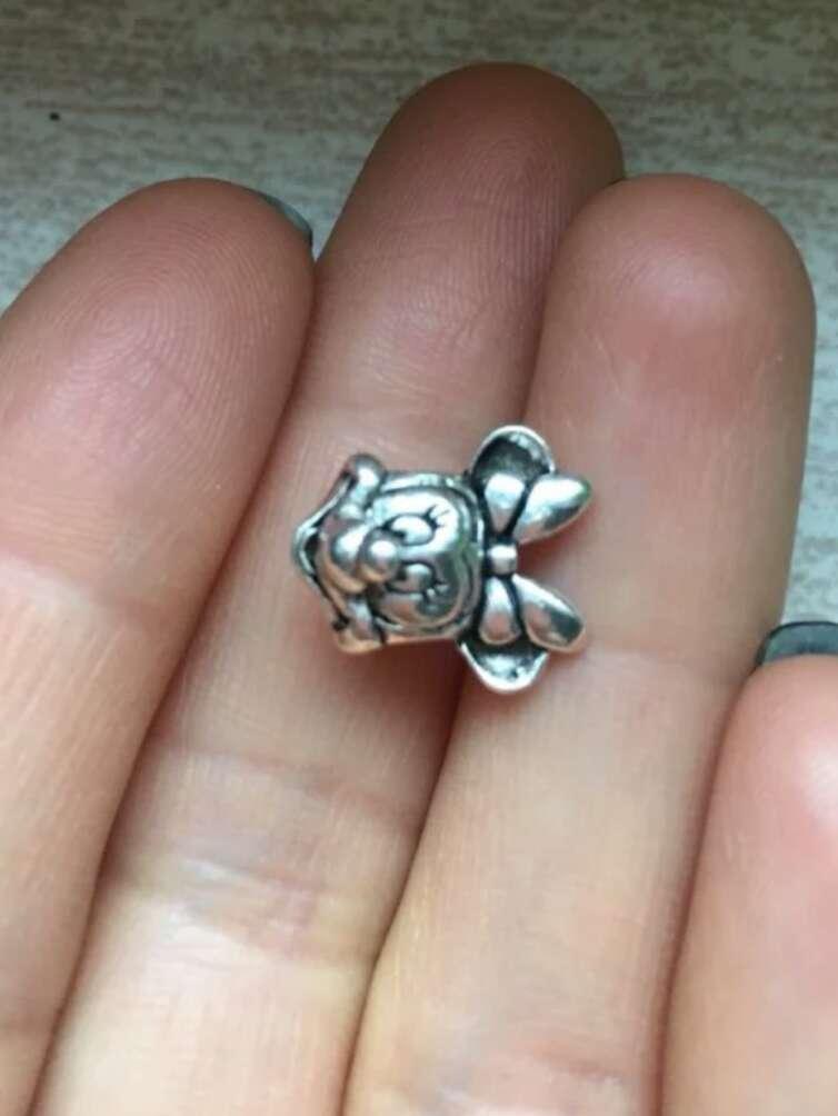Imagen producto Charms pequeño de Minie de plata 925 marca Disney  2