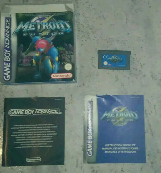 Imagen metroid fusion original completo game boy advance
