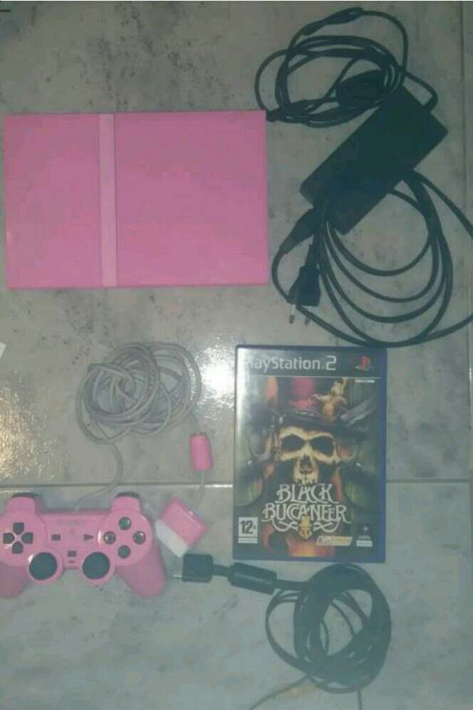 Imagen consola original sony playstation 2 ps2 rosa pal