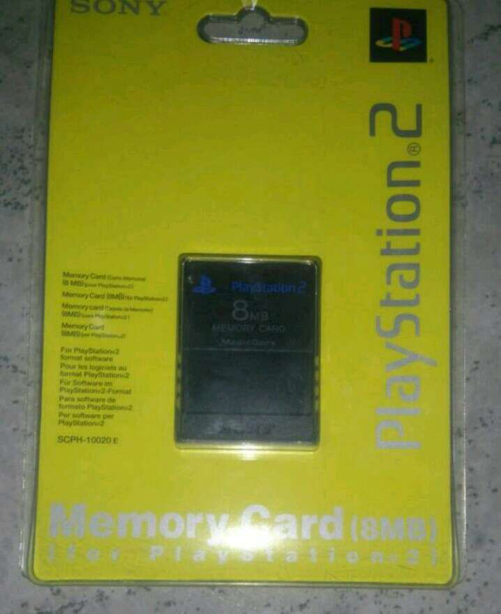 Imagen tarjeta de memoria sony playstation 2 ps2 original