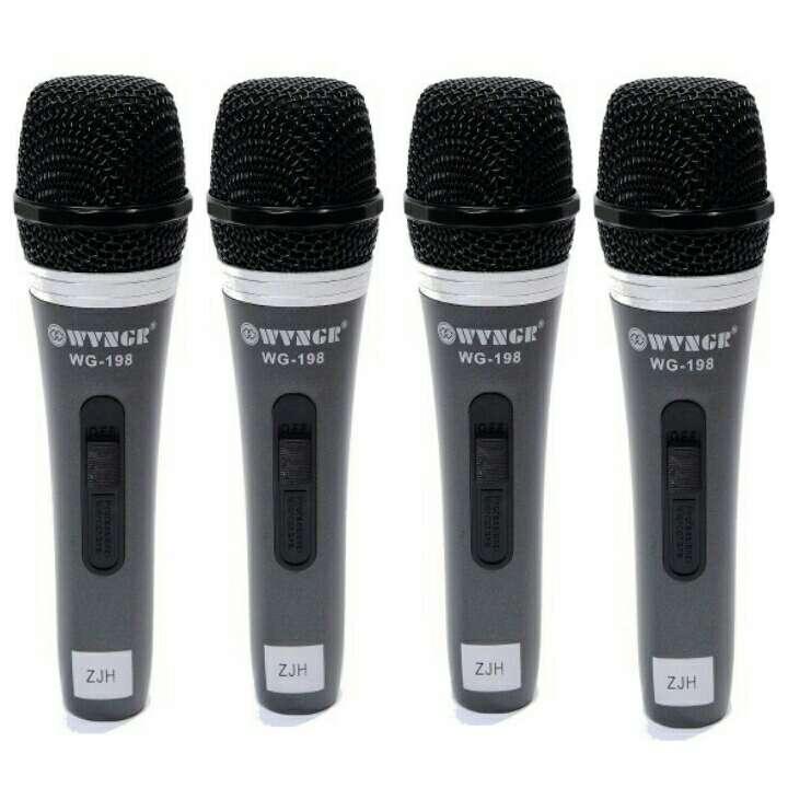 Imagen 4 unidades de microfono cardioide nuevos.