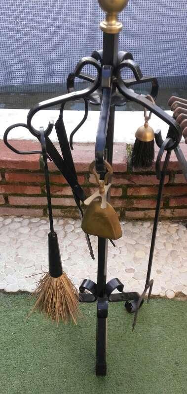 Imagen producto Parrilla de chimenea y utensilios 2