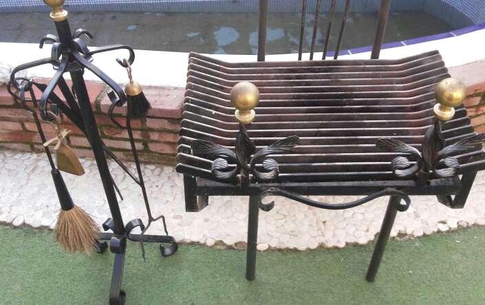 Imagen producto Parrilla de chimenea y utensilios 3