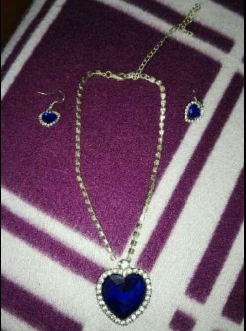 Imagen precioso conjunto de collar y pendientes imitacion ala joya del titanic