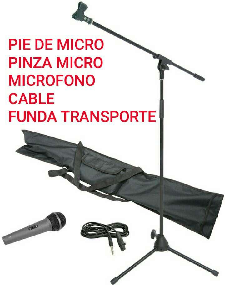 Imagen pie micro+pinza+micro+cable+funda nuevo.