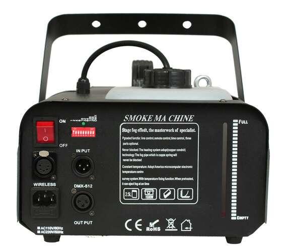 Imagen producto Maquina de humo 1200w DMX y mando nueva. 2
