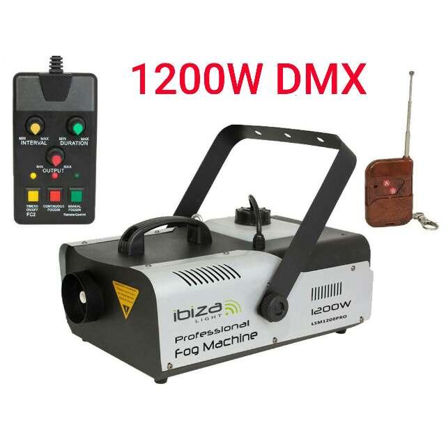 Imagen Maquina de humo 1200w DMX y mando nueva.