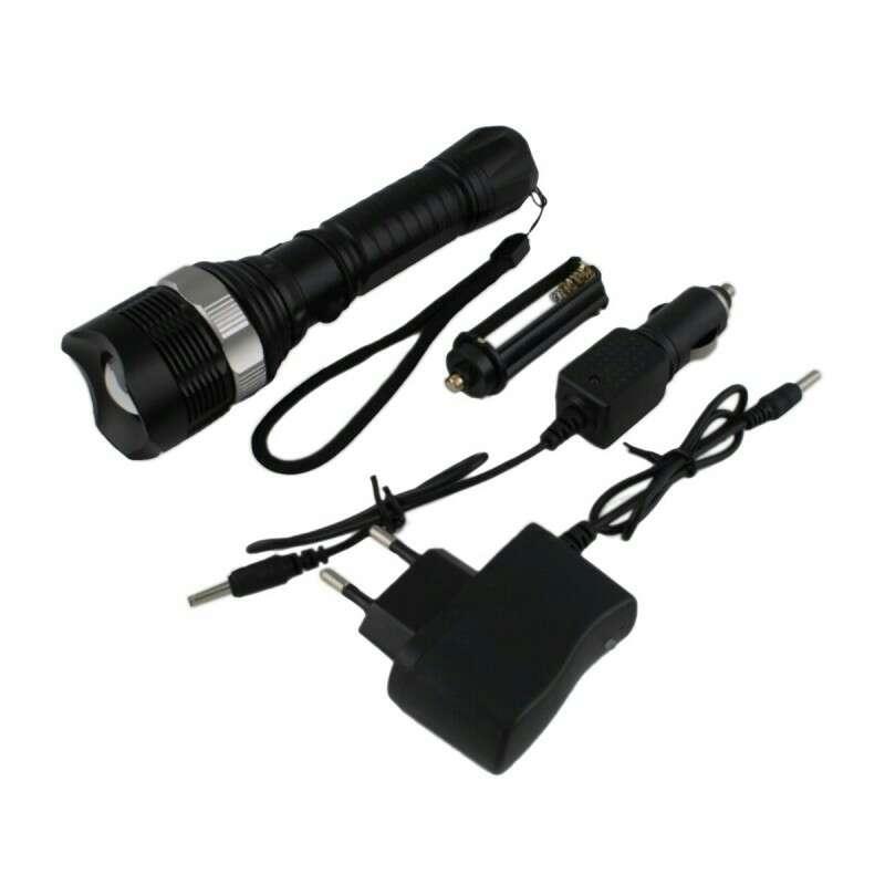 Imagen producto Linterna led bateria recargable nueva. 2