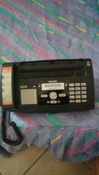 Imagen fax con teléfono
