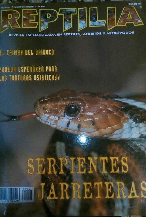 Imagen Revista Reptilia reptiles N° 25 Serpientes Jarreras
