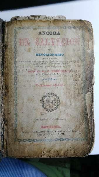 Imagen Libro antiguo Ancora de Salvación