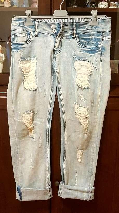 Imagen producto Jeans tejanos rotos italianos talla M 40 4