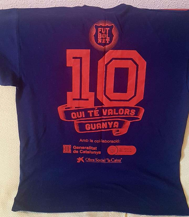Imagen producto Camiseta Unisex Fútbol Net Talla M 40-42 2