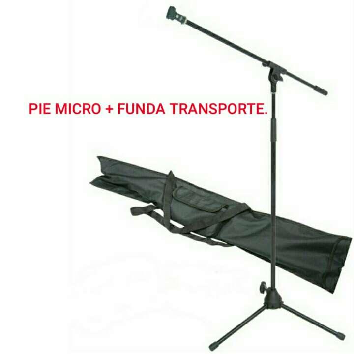 Imagen Pie de micro + funda transporte nuevo.