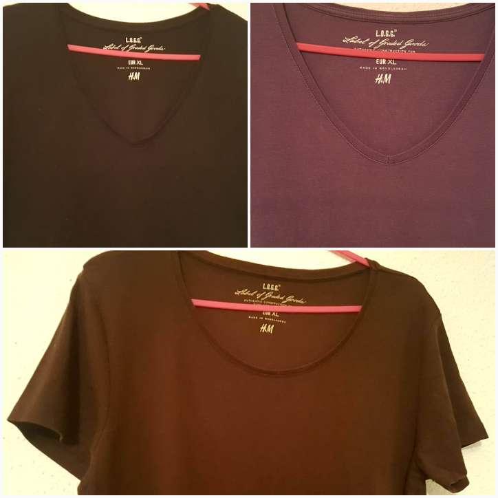 Imagen camisetas mujer H&M talla XL