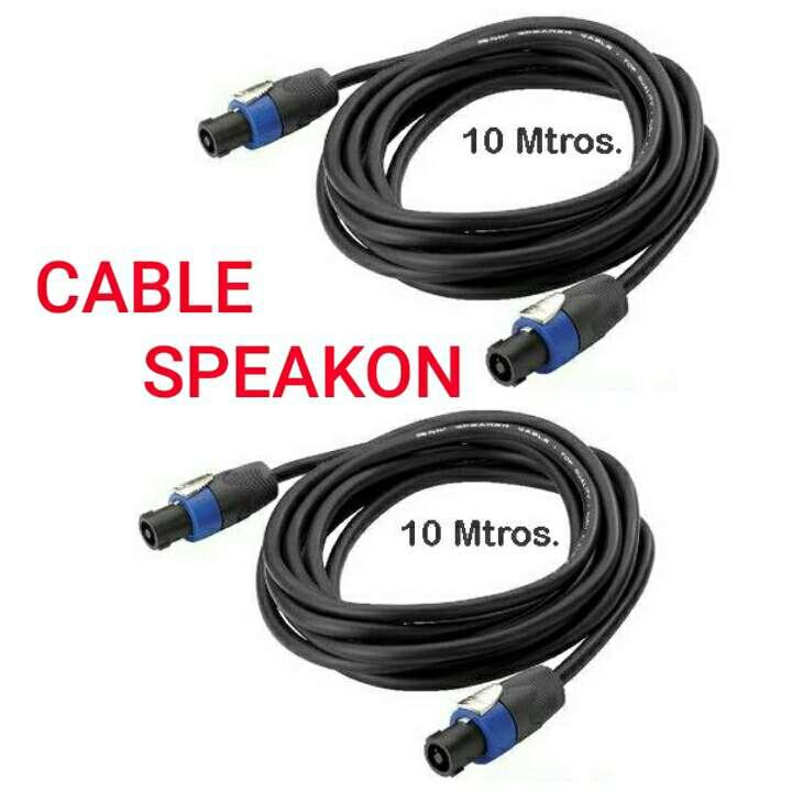 Imagen pareja de cables audio speakon 10m nuevos.