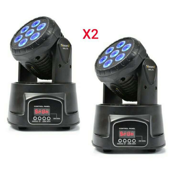 Imagen mini cabezas moviles wash 7x8w led nuevas.