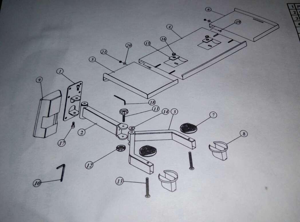 Imagen producto Soporte tv o para microondas nuevo. 4