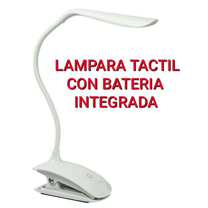 Imagen lampara tactil y flexible y con pinza nueva.