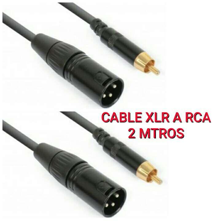 Imagen 2 Cables audio de 2m de 2 RCA a 2 XLR nuevos.