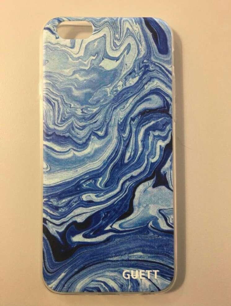 Imagen Funda estampado marmol azul