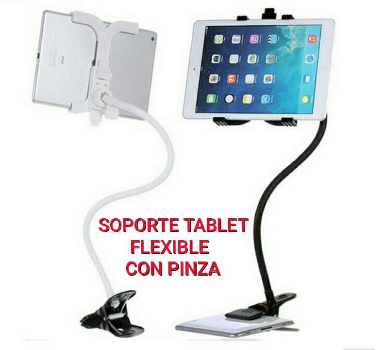 Imagen soporte tablet con brazo flexible y pinza nuevo.