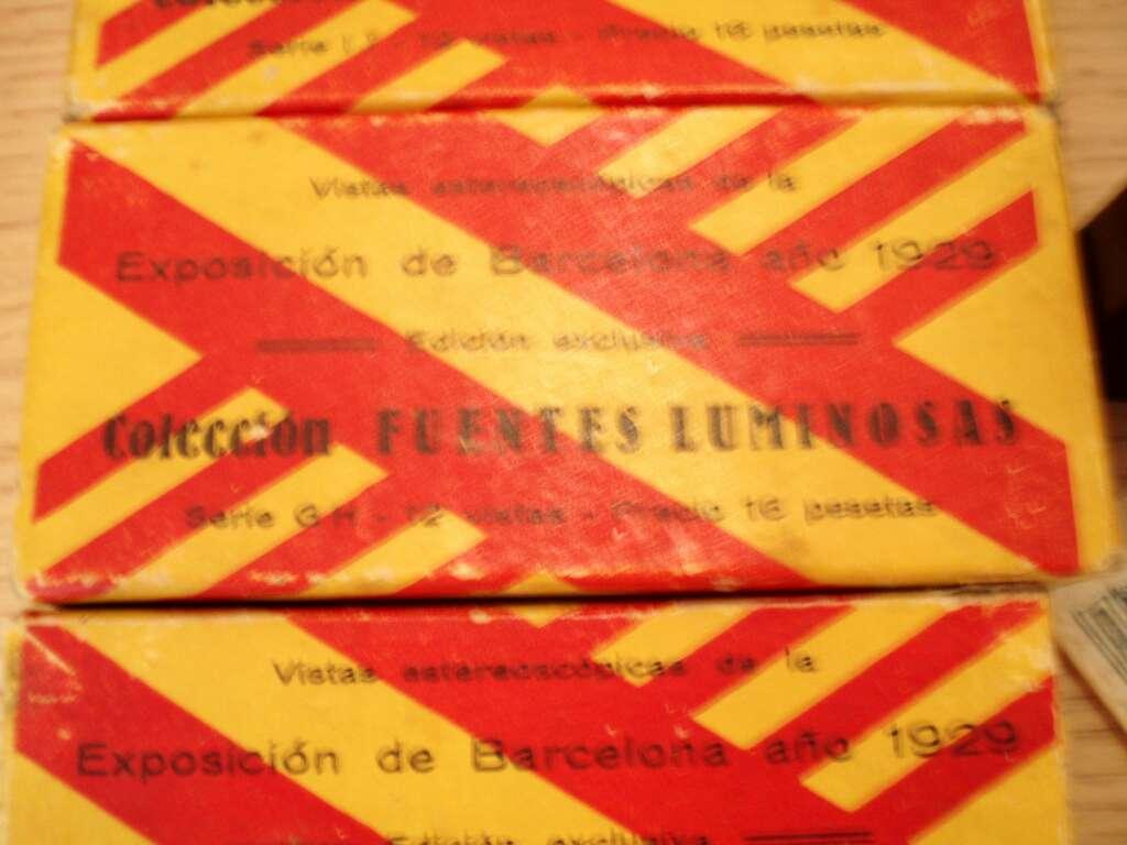 Imagen producto Diapositivas Estereoscópicas de cristal de 1929 Exposición Universal Barcelona y Exposición Iberoamericana de Sevilla. 2