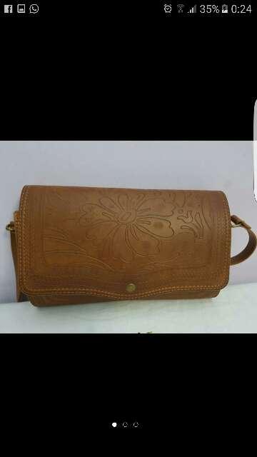 Imagen bolso cuero marrón