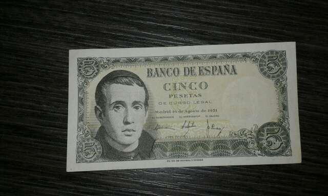 Imagen billete de 5 pesetas 1951