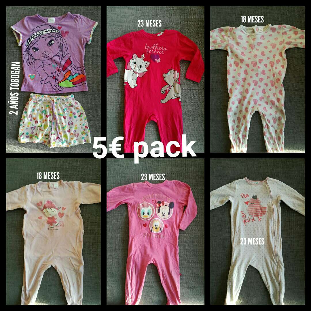 Imagen producto Pijamas 18 - 24 meses. Pack. 1