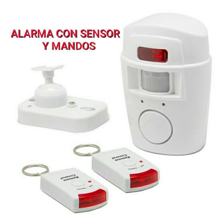 Imagen producto Alarma con sensor y 2 mandos nuevo. 1