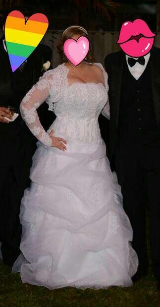 Imagen producto Vestido de novia y accesorios!! 4