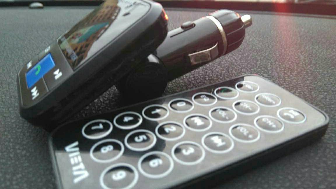 Imagen Transmisor coche FM VIETTA manos libres Bluetooth