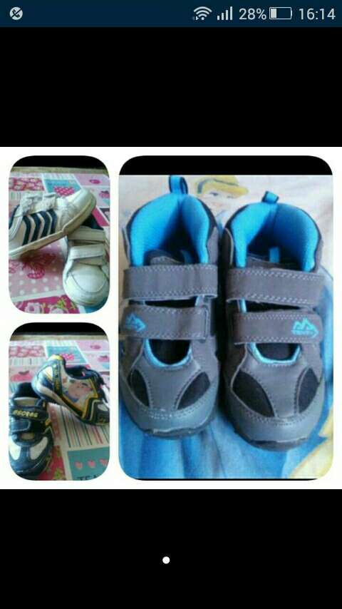 Imagen lote de zapatillas niño