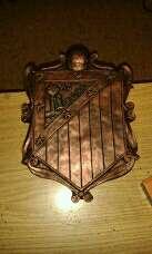 Imagen escudos at Madrid colgar 28cm acabado bronce
