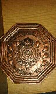 Imagen escudos real Madrid colgar 34.5x 34.5cm bronce