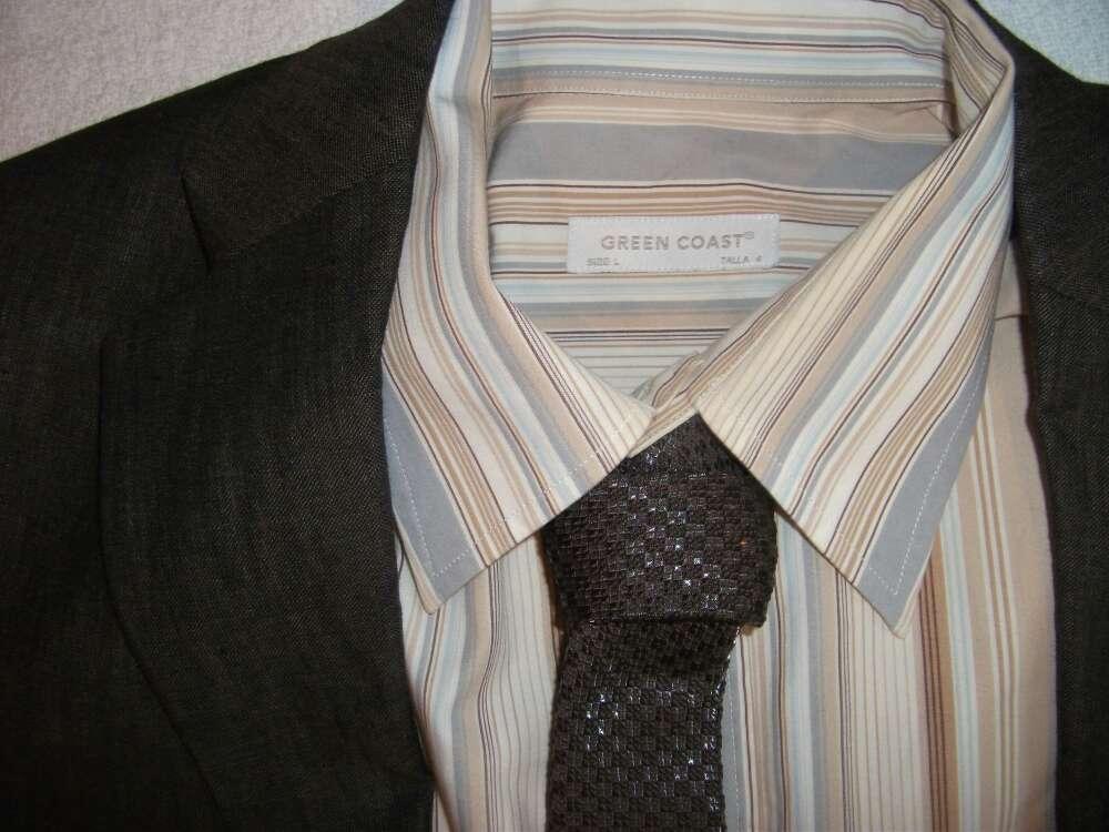 Imagen Camisa rayas tonos marrones