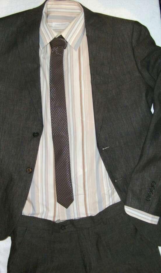 Imagen producto Camisa rayas tonos marrones  2
