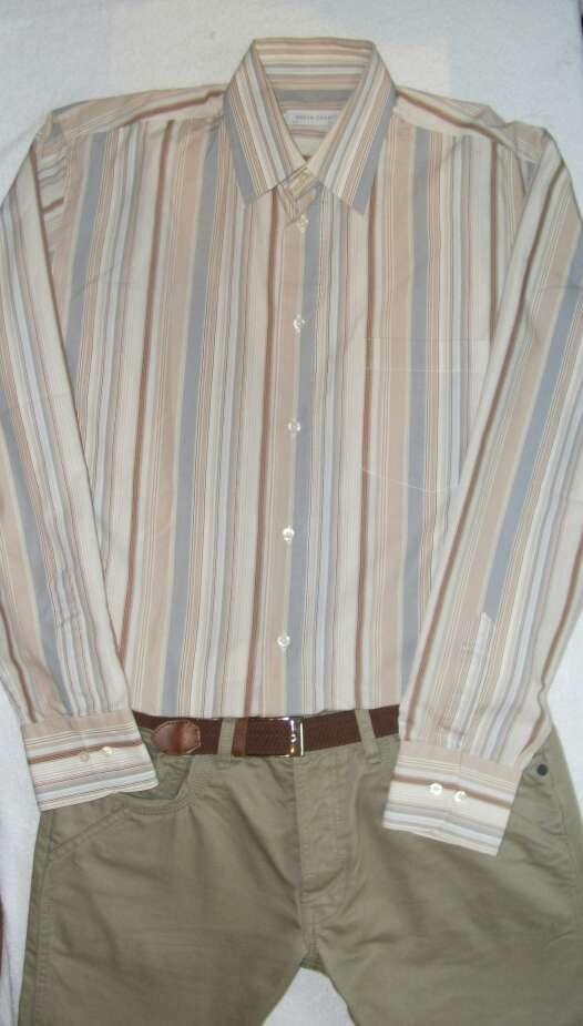 Imagen producto Camisa rayas tonos marrones  4