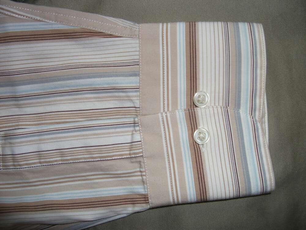 Imagen producto Camisa rayas tonos marrones  3