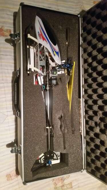 Imagen helicoptero con emisora 6 canales de aluminio