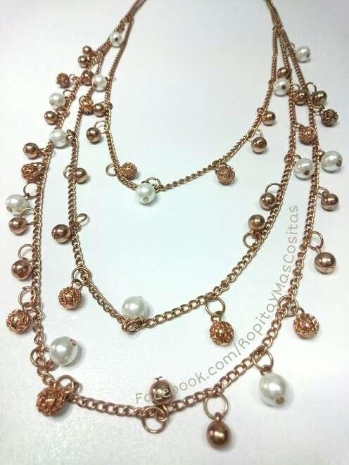 Imagen Nuevo Collar dorado triple