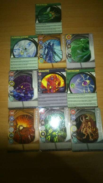Imagen imanes,cartas magic dragon ball z y bakugan