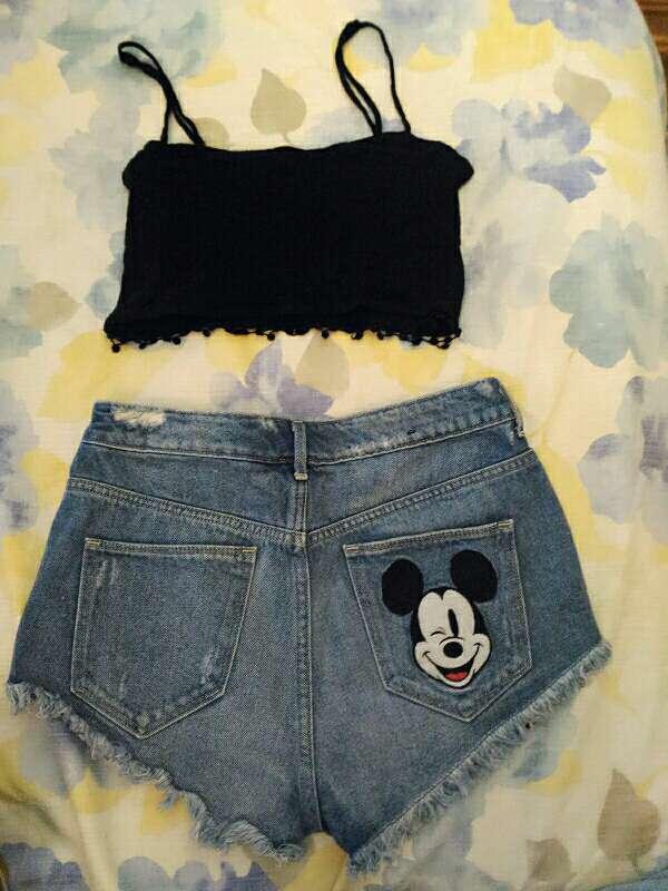 Imagen producto Conjunto short del mickey mouse y top 2
