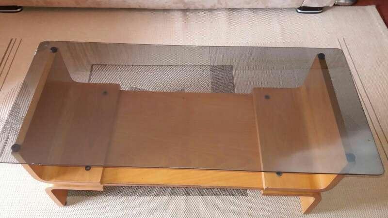 Imagen Mesa comedor de madera y cristal sobremesa 55€