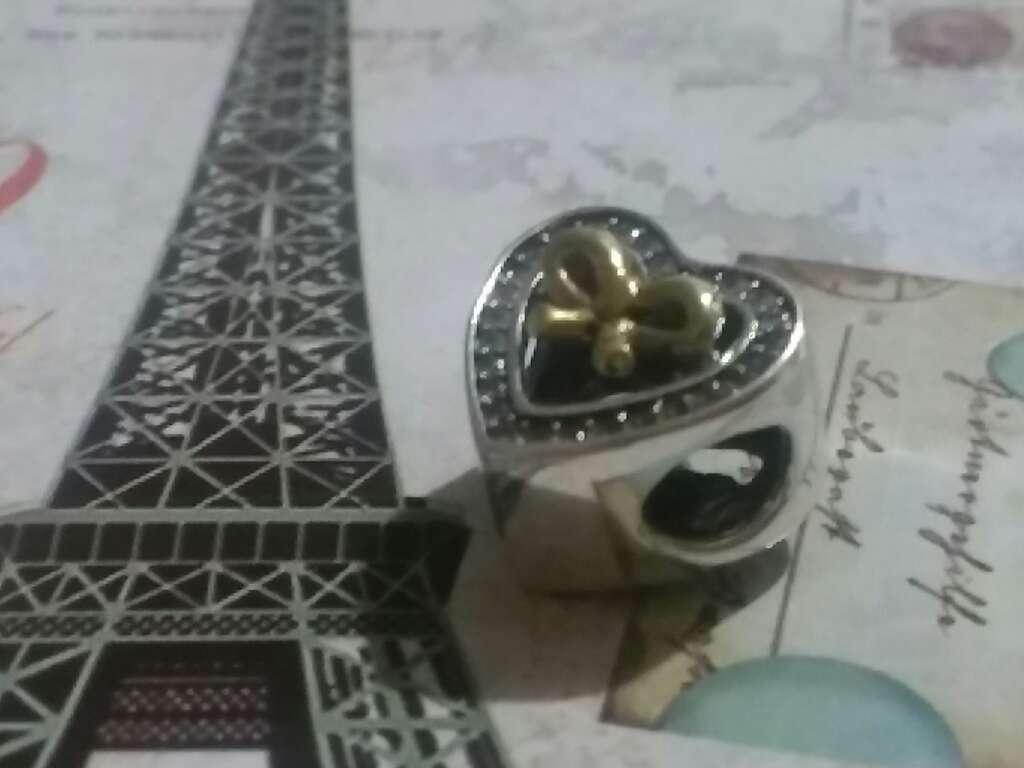 Imagen producto Charms (Corazón con Lazo)  3
