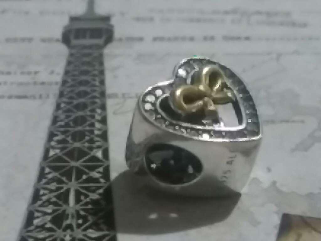 Imagen producto Charms (Corazón con Lazo)  2